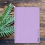 Papiernictvo - MADEBOOK - zošit A5 fialový pastel - 10315325_
