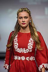 Ozdoby do vlasov - Jedinečná dvojradová čelenka so zlatými kvetmi a guličkami - Slavianka - 10314249_