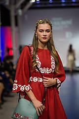 Ozdoby do vlasov - Jedinečná dvojradová čelenka so zlatými kvetmi a guličkami - Slavianka - 10314259_