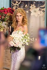 Ozdoby do vlasov - Jedinečná dvojradová čelenka so zlatými kvetmi a guličkami - Slavianka - 10314395_