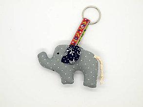 Kľúčenky - sloník- kľúčenka - 10315452_