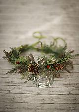 Ozdoby do vlasov - Kvetinový venček lesná víla - 10311513_