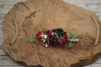 Ozdoby do vlasov - Kvetinový polvenček - 10311716_