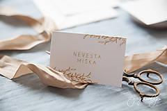 Papiernictvo - Svadobné oznámenie Medový škovránok - 10313867_