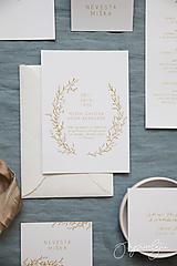 Papiernictvo - Svadobné oznámenie Medový škovránok - 10313868_