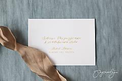 Papiernictvo - Svadobné oznámenie Medový škovránok - 10313870_