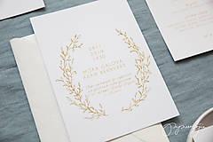 Papiernictvo - Svadobné oznámenie Medový škovránok - 10313873_