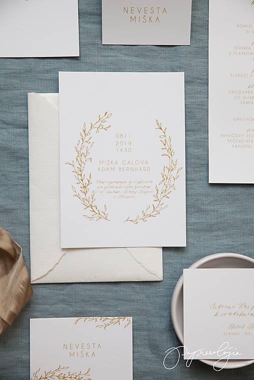 Svadobné oznámenie Medový škovránok