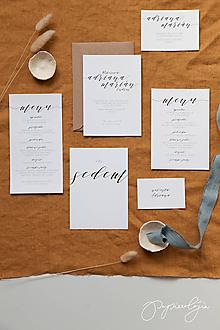 Papiernictvo - Svadobné oznámenie Minimal VI - 10314026_