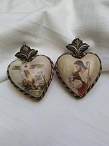 Dekorácie - Veľkonočné srdce - 10313480_