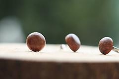 Náušnice - Drevené náušnice- guľatá čerešňa - 10314260_