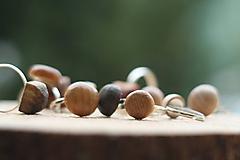 Prstene - Drevený prsteň- guľatý - 10314284_