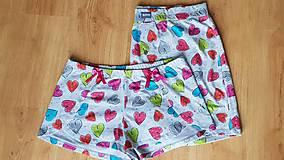 Pyžamy a župany - Valentinske šortky - 10312538_