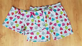 Pyžamy a župany - Valentinske šortky - 10312541_