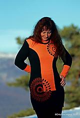 Dámske šaty mini, šité, maľované, etno 3D