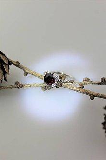 Prstene - granát prsteň striebro - 10313303_
