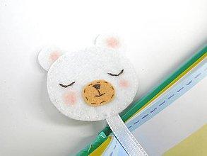 Papiernictvo - Záložka do knihy pre deti (Polárny medveď) - 10311366_
