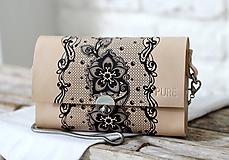 Kabelky - Listová kabelka s retiazkou MINI EVENING CLUTCH N.4 - 10313090_