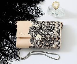 Kabelky - Listová kabelka s retiazkou MINI EVENING CLUTCH N.3 - 10312996_
