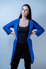 Kabáty - Kardigán STRAIT (Modrý) - 10314224_