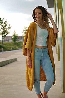 Kabáty - Kardigán SPRING (Horčicový žltý) - 10313762_
