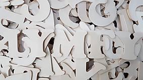 Dekorácie - Drevené písmená na vyskladanie 8cm - 10312991_