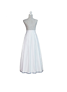 e2e6c0e0d7ed Sukne - Svadobná MAXI sukňa s výšivkou na spodu - 10314435