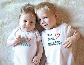 Detské oblečenie - sada body pre super bračekov - 10314532_