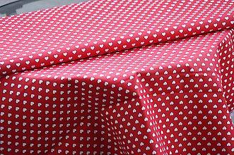 Úžitkový textil - Obrus. Valentínsky srdiečkový červený - 10314565_