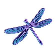 Odznaky/Brošne - Vážka turqouise blue/violet - 10314827_