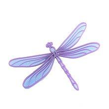 Odznaky/Brošne - Vážka iceland blue/violet - 10314835_