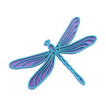 Odznaky/Brošne - Vážka violet/turqouise blue - 10314844_
