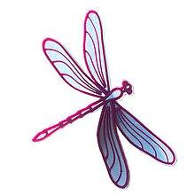 Odznaky/Brošne - Vážka iceland blue/purple - 10314855_