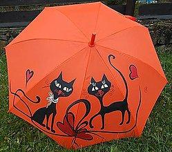 """Iné doplnky - Dáždnik """"Mačky 2"""" (Oranžová) - 10312164_"""