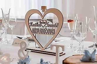 Darčeky pre svadobčanov - Srdiečko Krstné mená s priezviskom - 10315484_