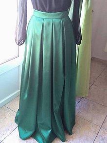 Sukne - Saténová skladaná sukňa xl - 10312533_