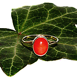 Prstene - ZLATÝ prsten KORÁL 10*8 - 10312381_