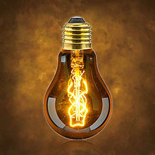 Komponenty - Retro Edison Žiarovka A19, 40W, 140lm - 10314150_
