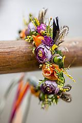 Ozdoby do vlasov - Jesenná čelenka