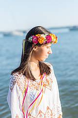 Ozdoby do vlasov - Pestrofarebný letný venček Skittles - 10312827_