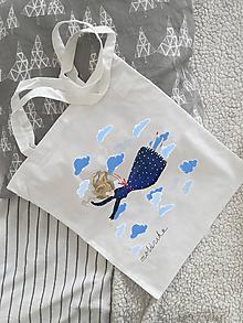 Nákupné tašky - Plátená taška- Padať a lietať - 10314467_