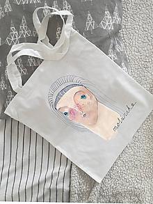 Nákupné tašky - Plátená taška- dievčina - 10314510_