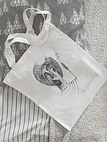 Nákupné tašky - Plátená taška- bye bye - 10314521_
