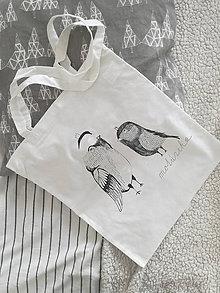 Nákupné tašky - Plátená taška- vtáčiky - 10314540_