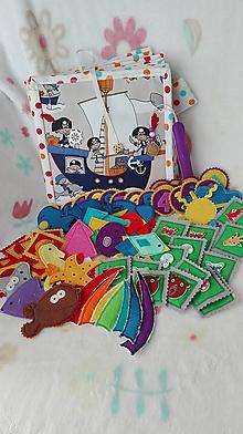 Hračky - Quiet book - textilná knižka - 3 Piráti - 10311606_