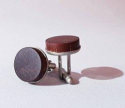Šperky - manžetové gombíky merbau de luxe - 10315272_