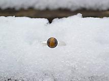 Prstene - Tigrie Oko strieborný prsteň rhodiovaný - 10312461_
