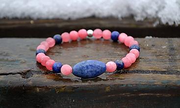 Náramky - Zafír, Lapis Lazuli, Jadeit náramok - 10312308_