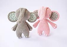 Hračky - sloník (mentolové ušká) - 10311956_