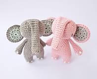Hračky - sloník (púdrovo ružový) - 10313892_